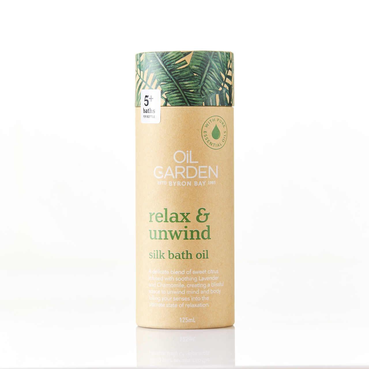 Oil Garden Relax & Unwind Silk Bath Oil 125mL 6670113